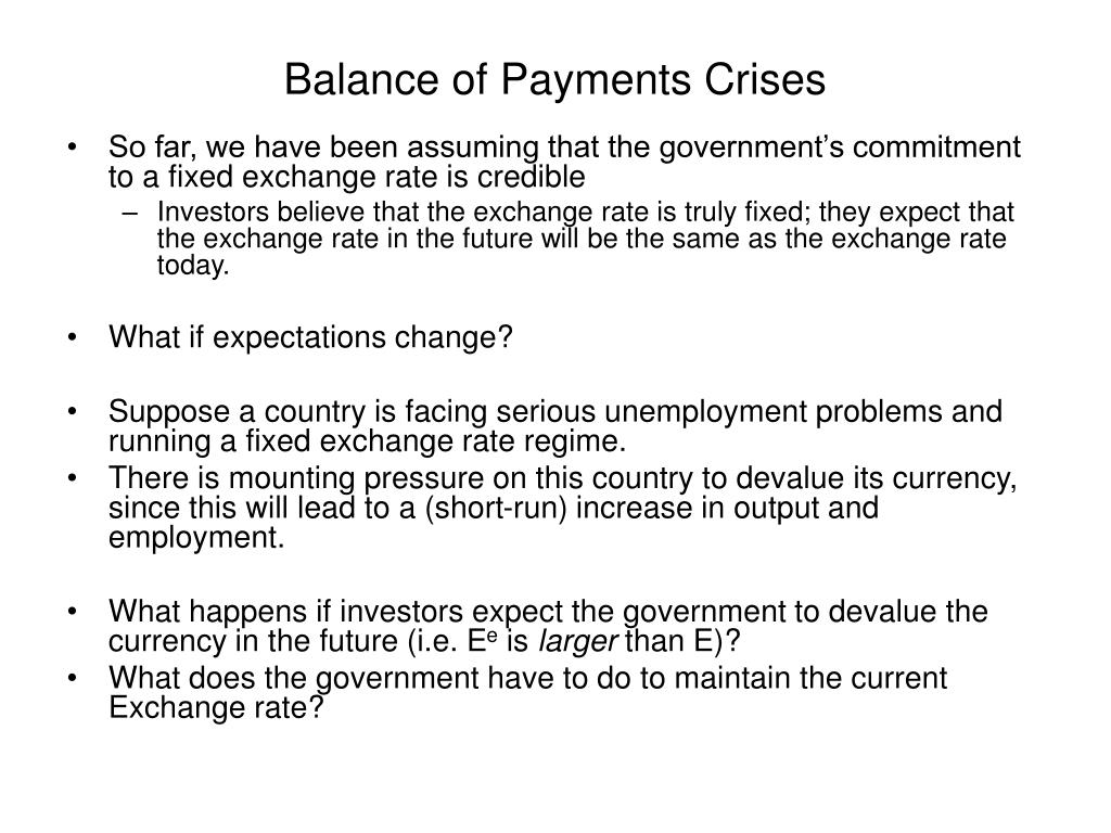 Balance of Payments Crises