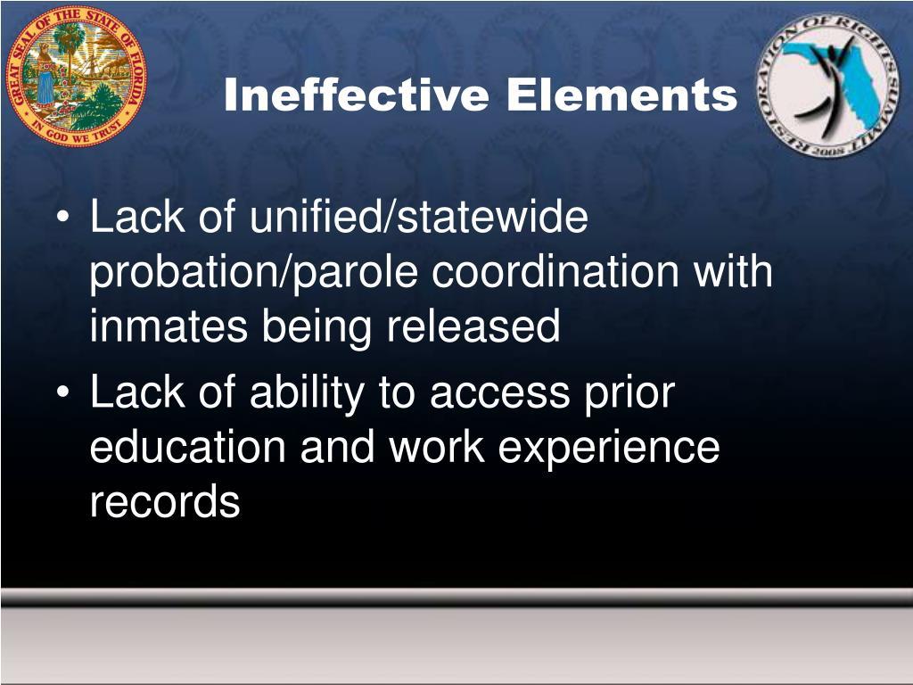 Ineffective Elements