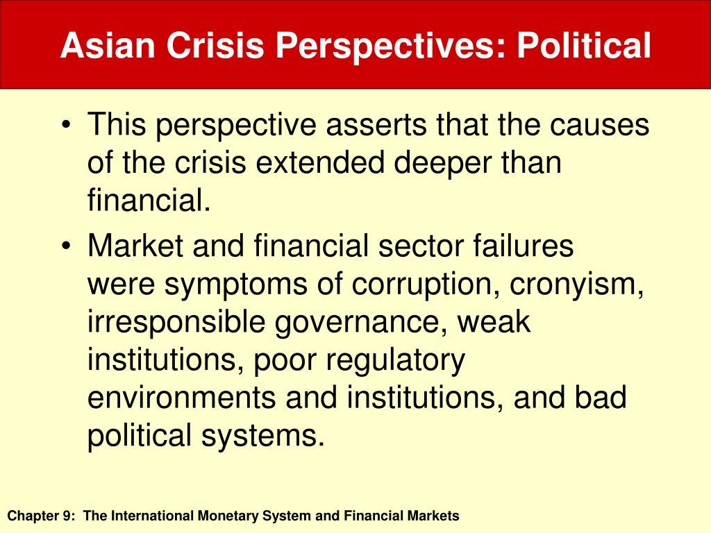 Asian Crisis Perspectives: Political