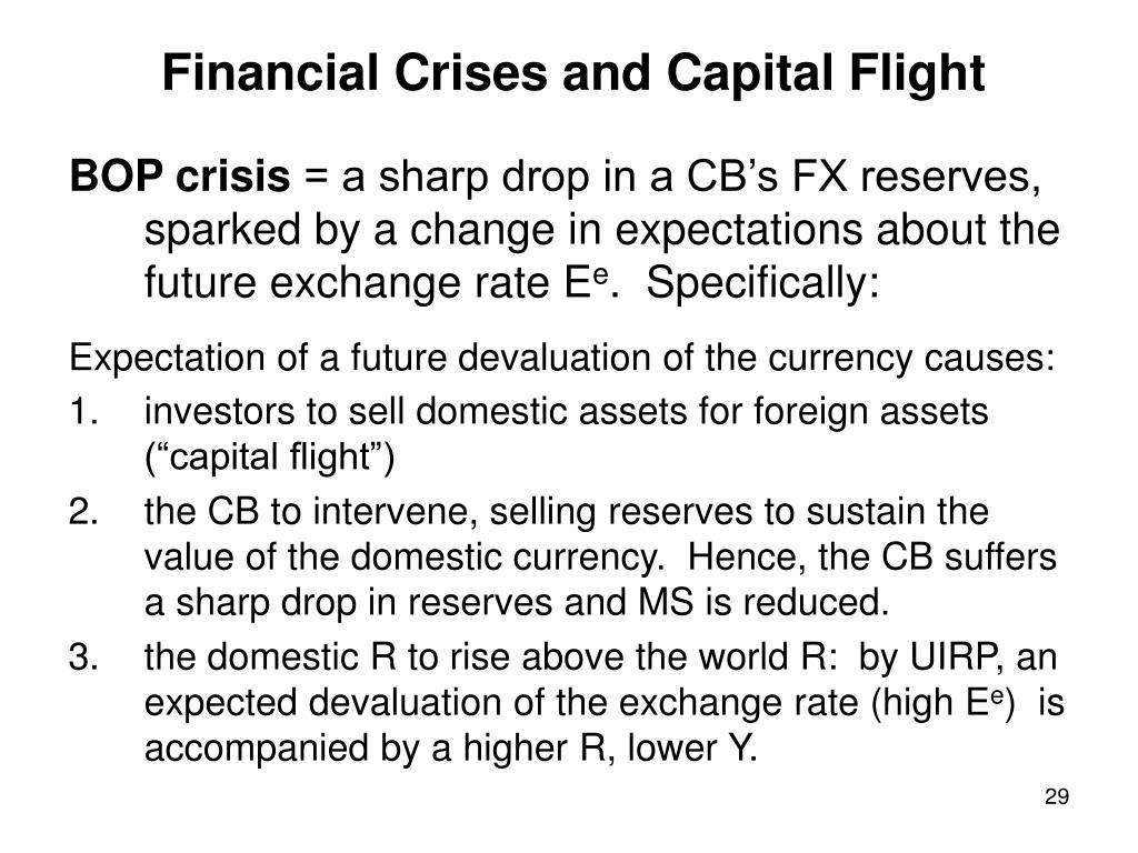 Financial Crises and Capital Flight