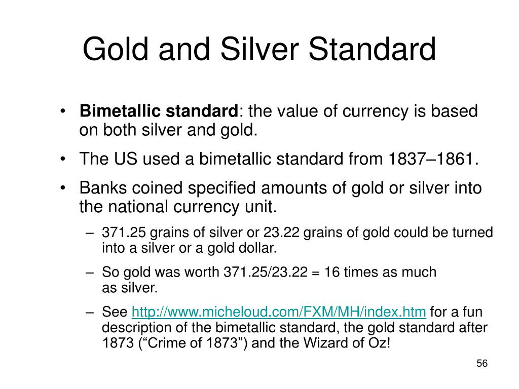 Gold and Silver Standard