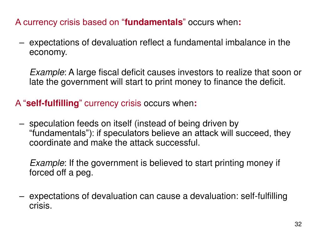 """A currency crisis based on """""""