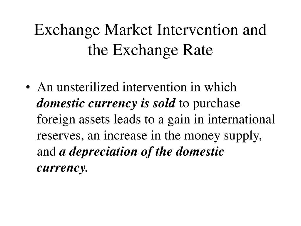 Exchange Market Intervention and the Exchange Rate