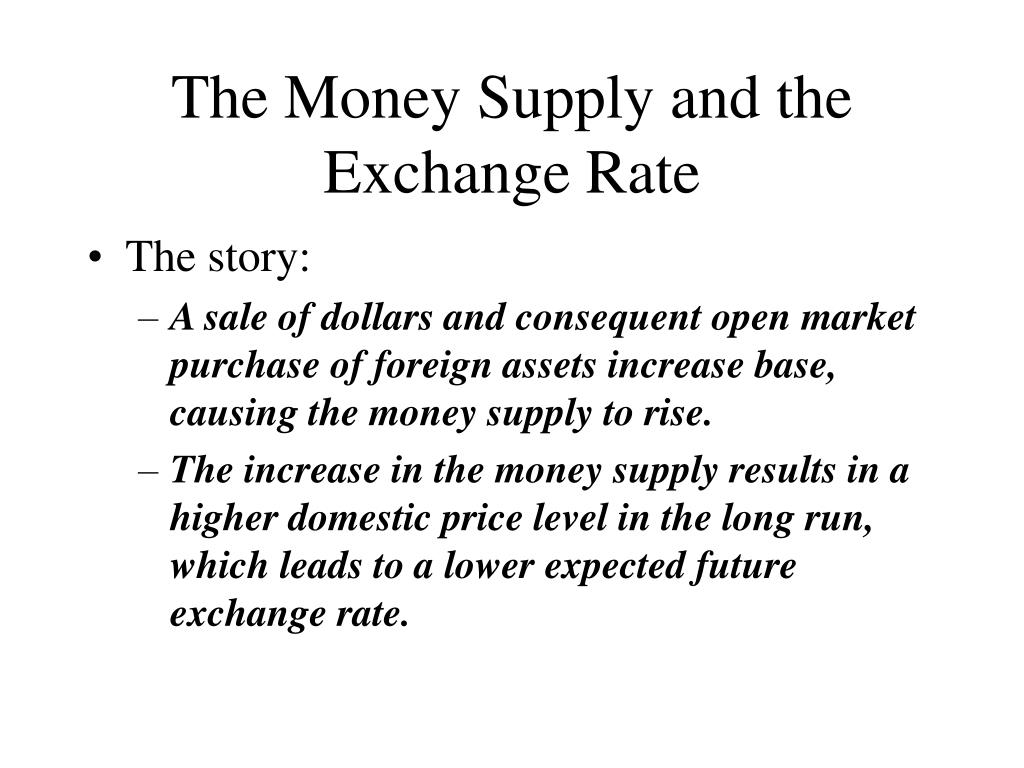 The Money Supply and the Exchange Rate