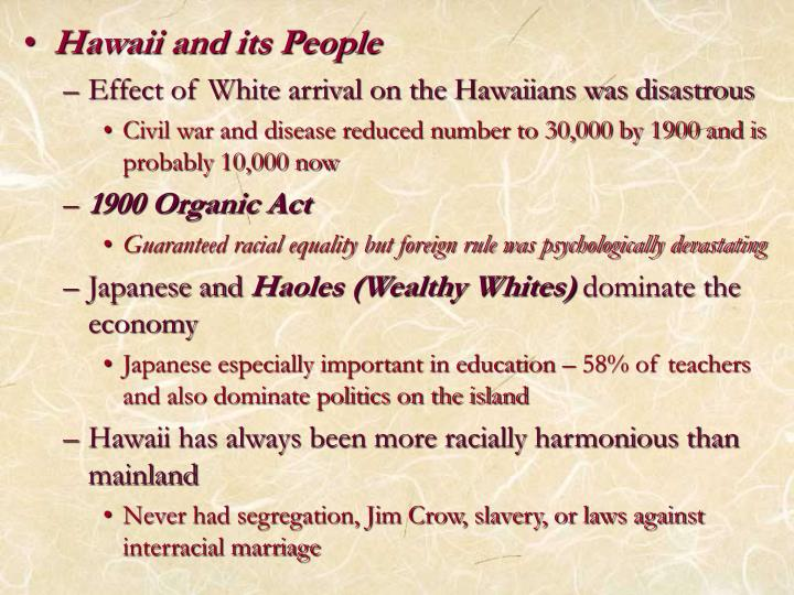 Hawaii and its People