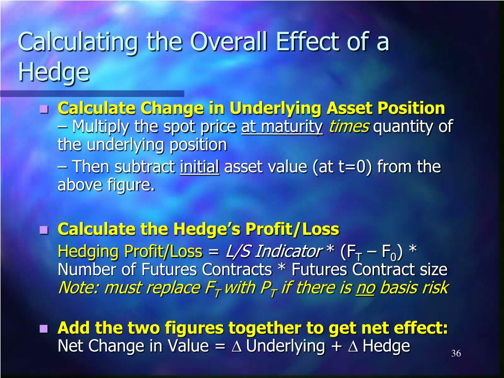 Calculating the Overall Effect of a Hedge