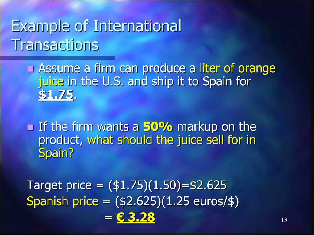 Example of International Transactions