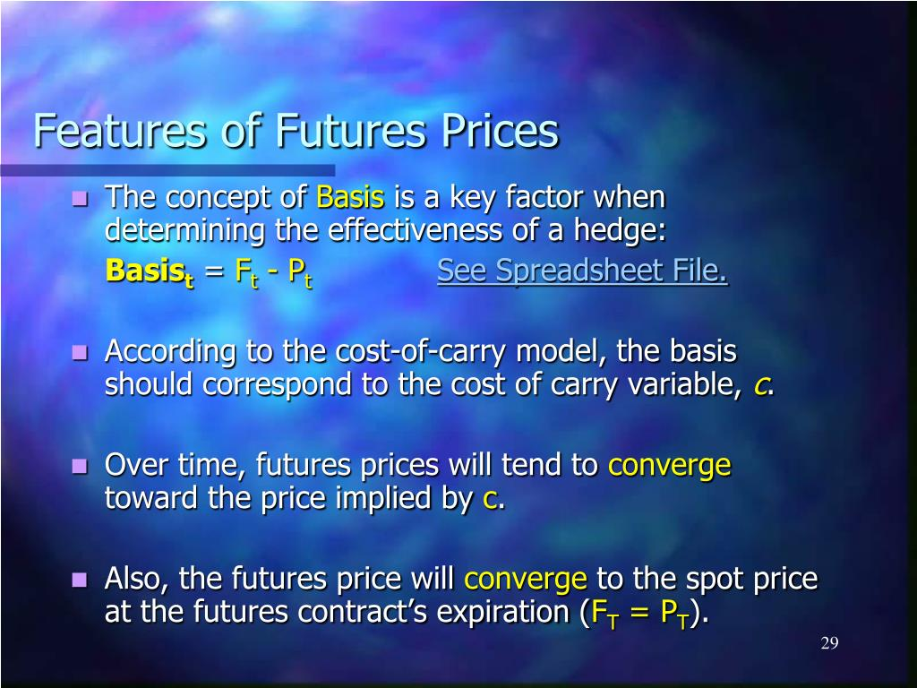 Features of Futures Prices