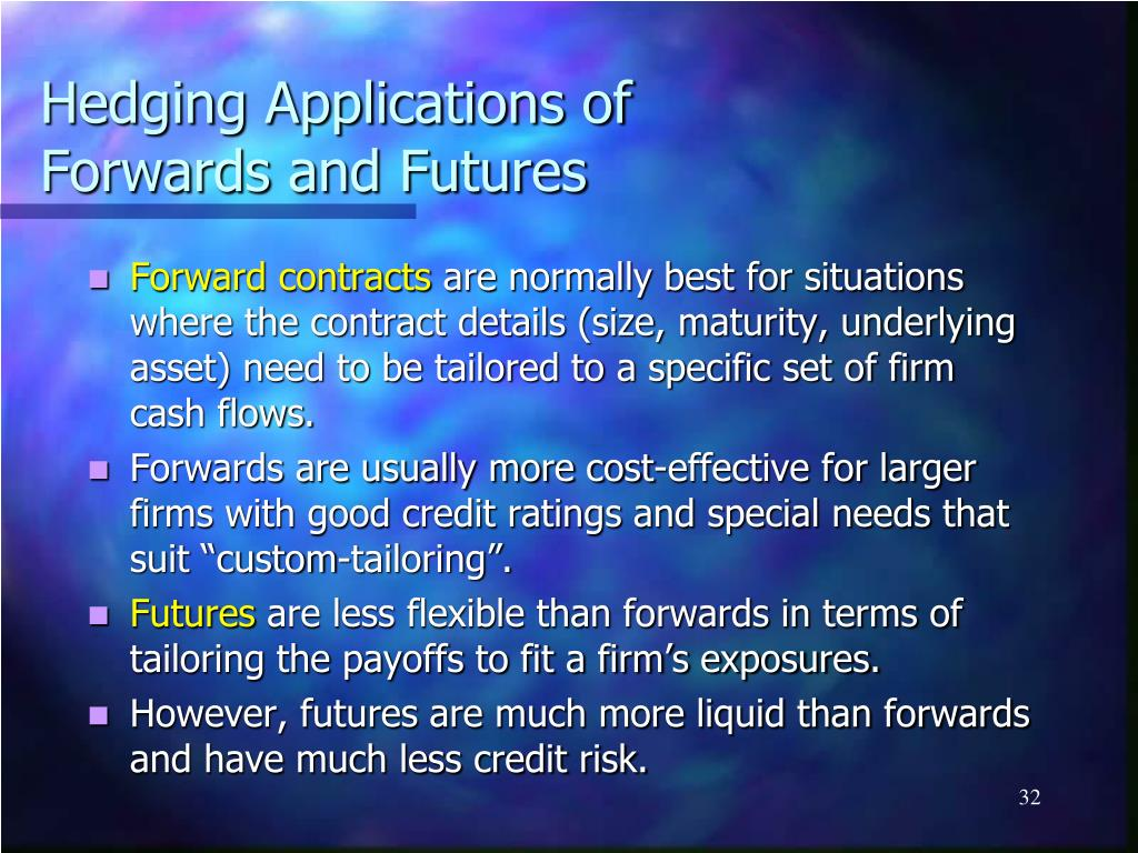 Hedging Applications of