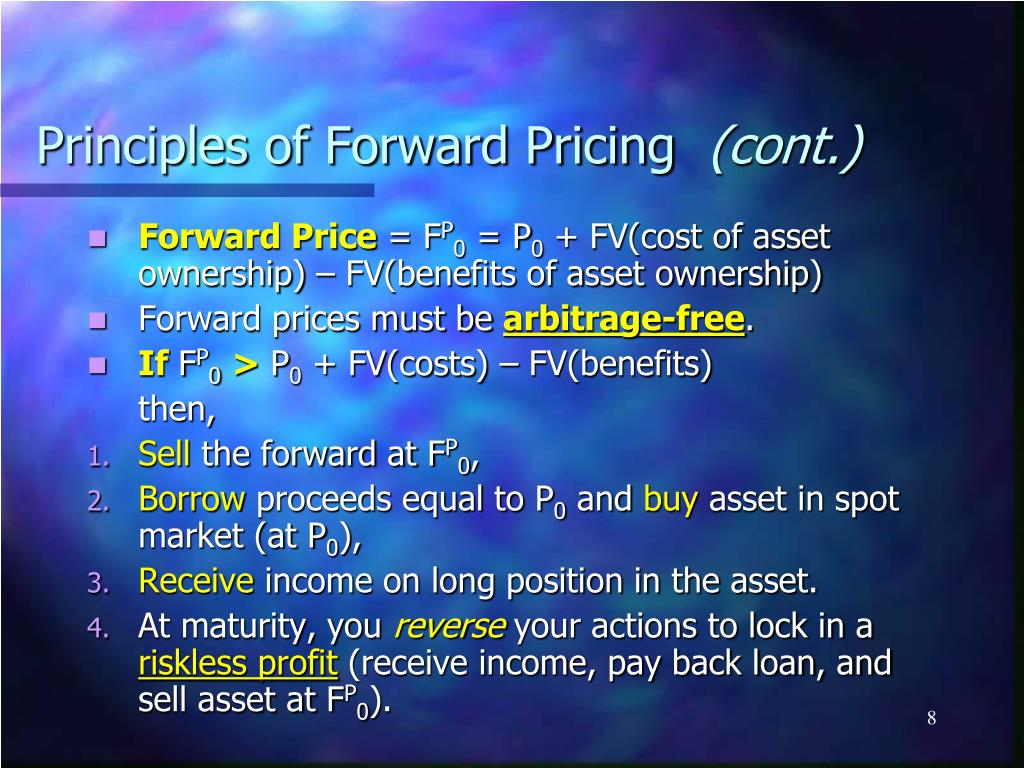 Principles of Forward Pricing
