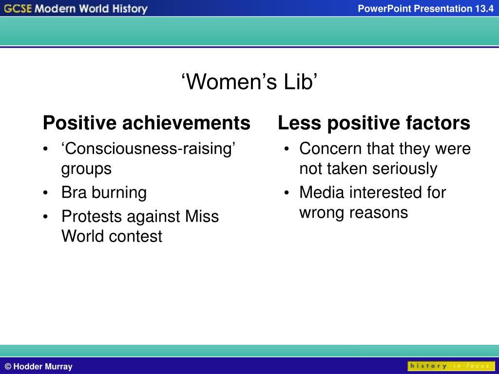Positive achievements
