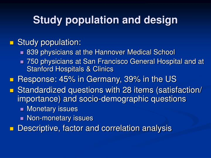 Study population and design