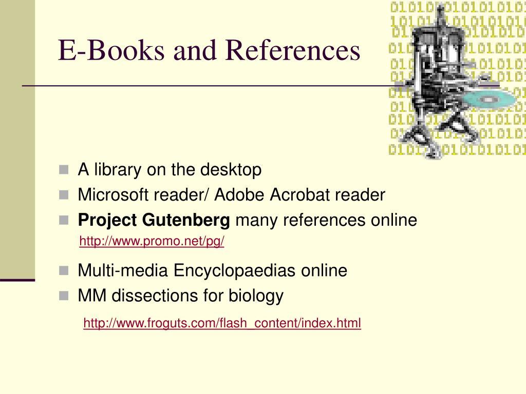 E-Books and References