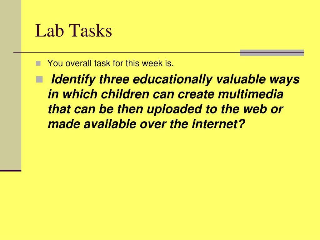 Lab Tasks