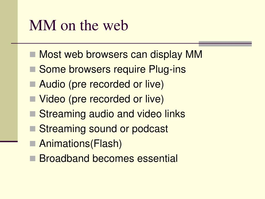 MM on the web