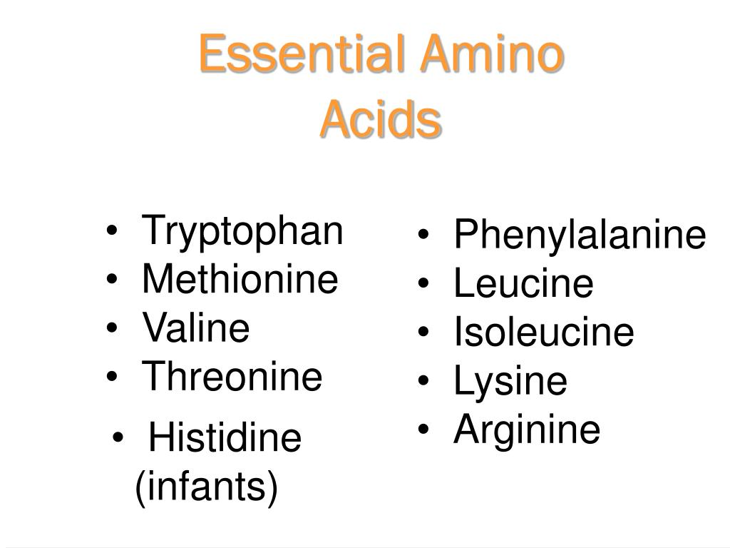 Essential Amino Acids