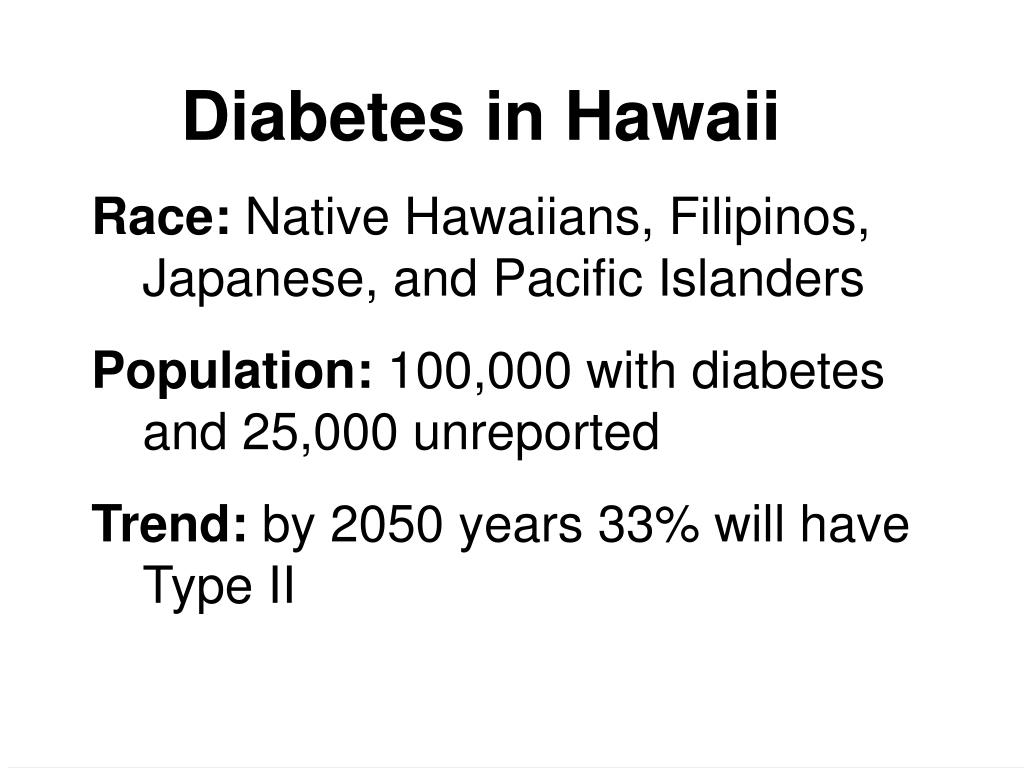 Diabetes in Hawaii