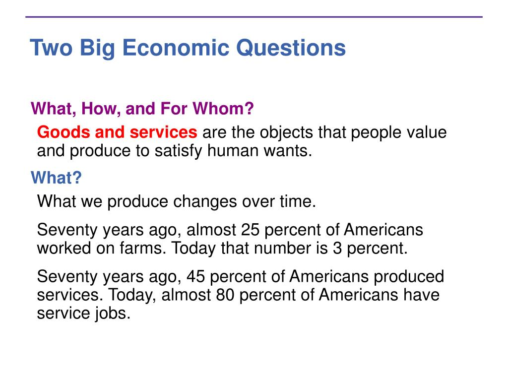 Two Big Economic Questions