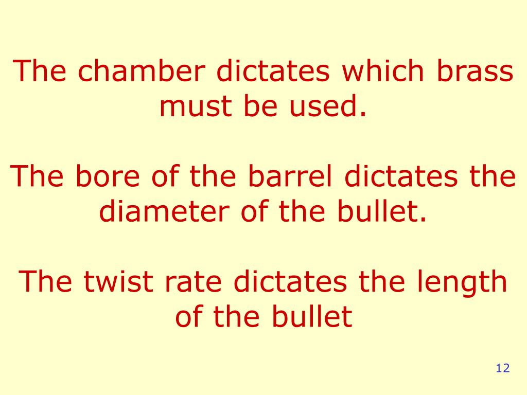 The chamber dictates which brass must be used.