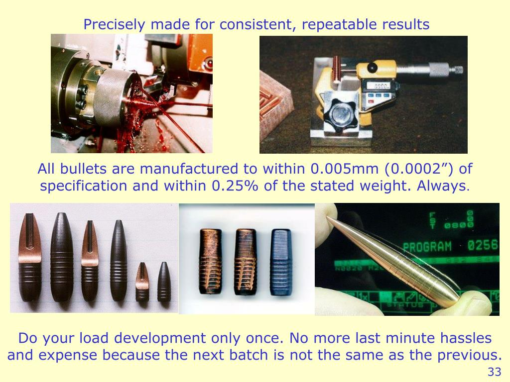 Precisely made for consistent, repeatable results