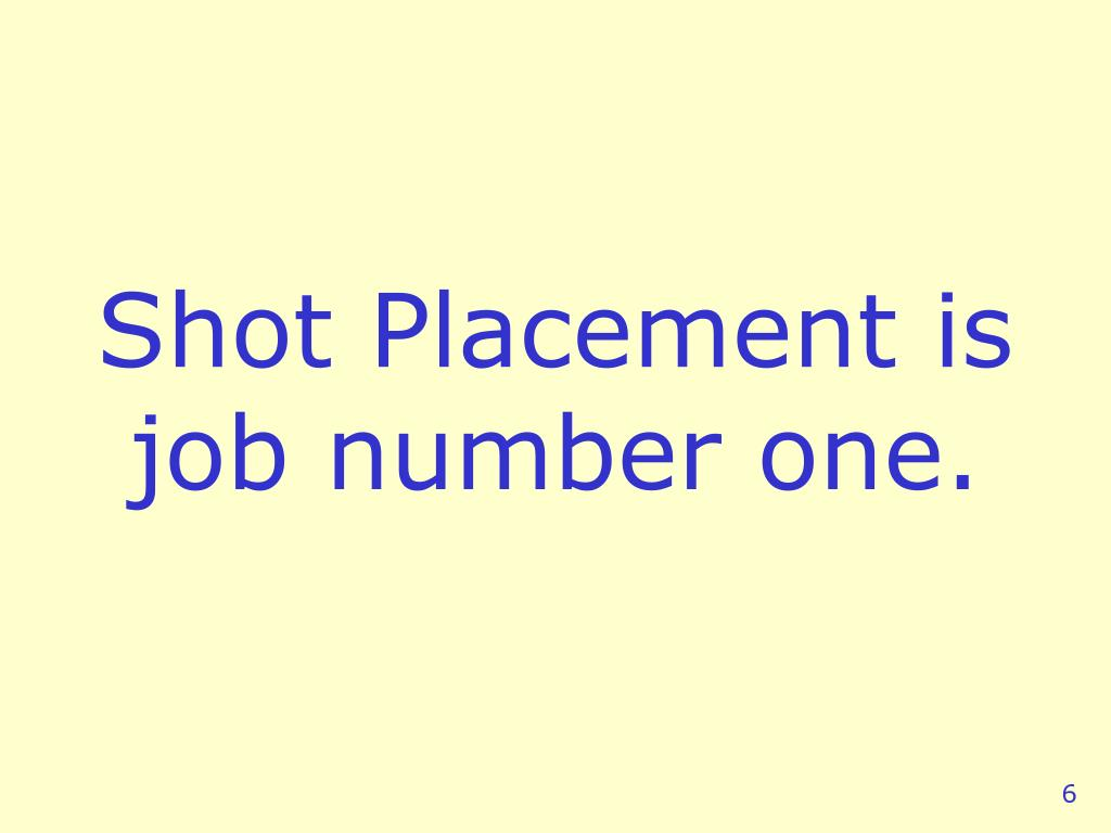 Shot Placement is