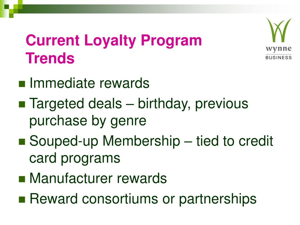 Current Loyalty Program Trends