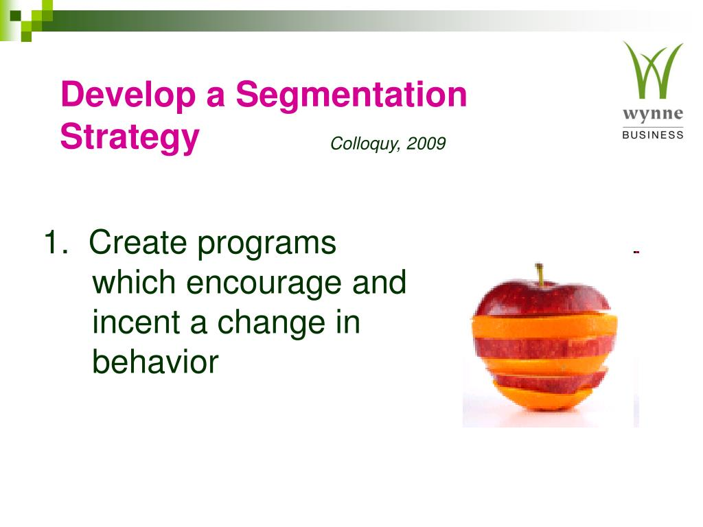 Develop a Segmentation Strategy