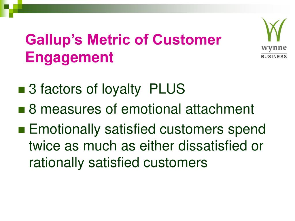 Gallup's Metric of Customer Engagement