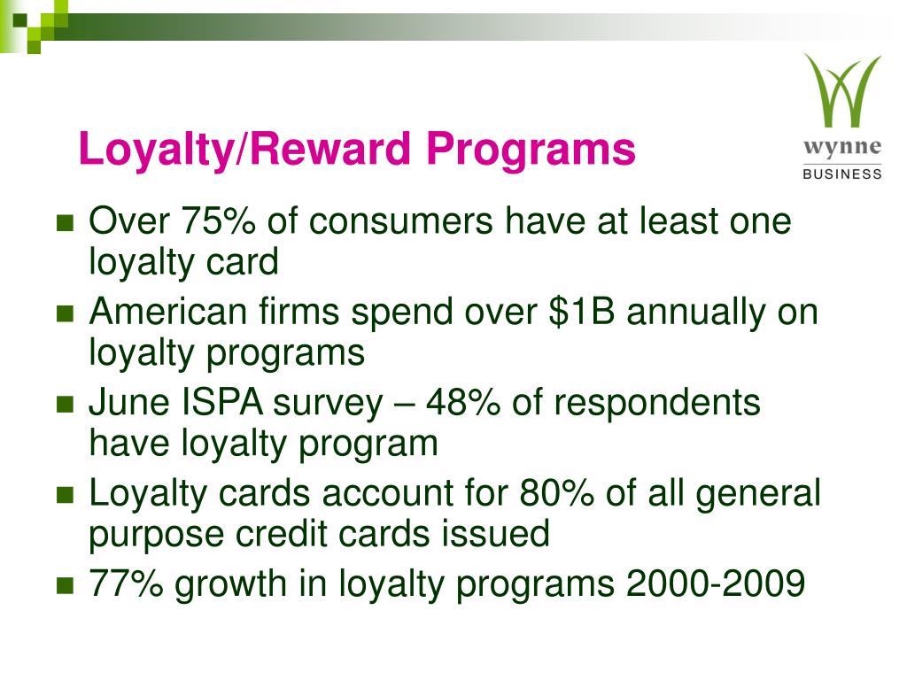 Loyalty/Reward Programs