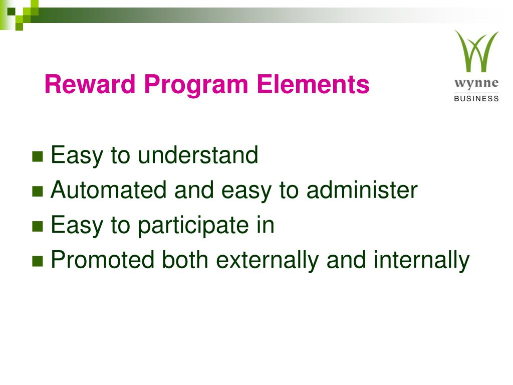 Reward Program Elements