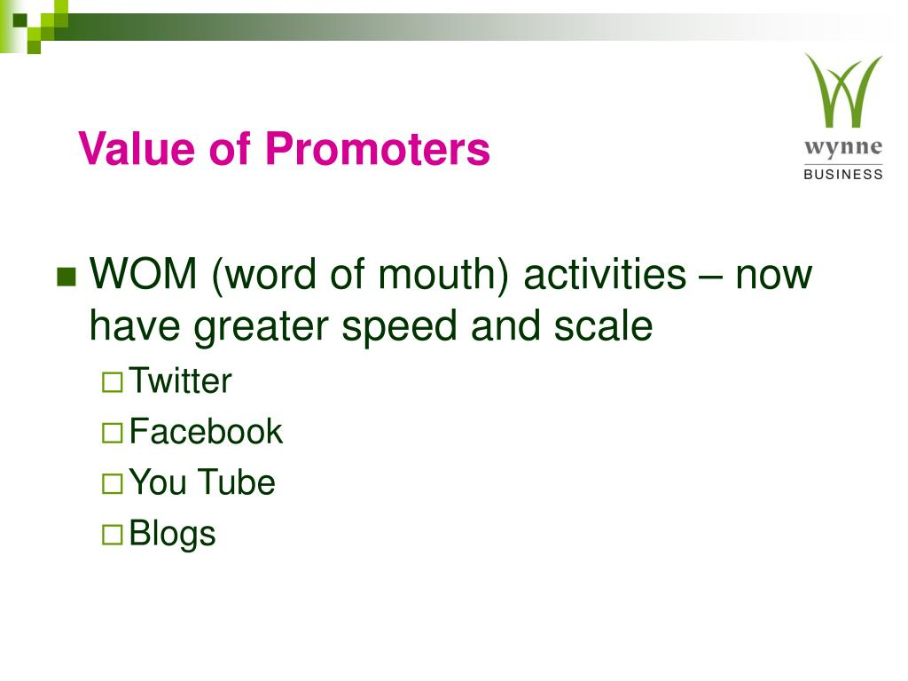Value of Promoters