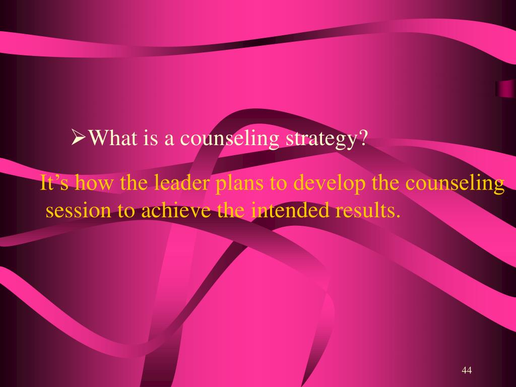 What is a counseling strategy?