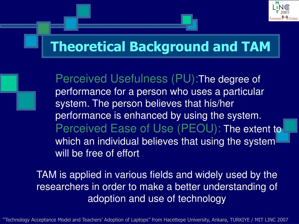 Theoretical Background and TAM