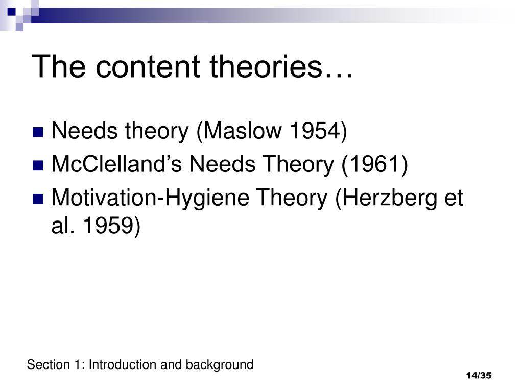 The content theories…