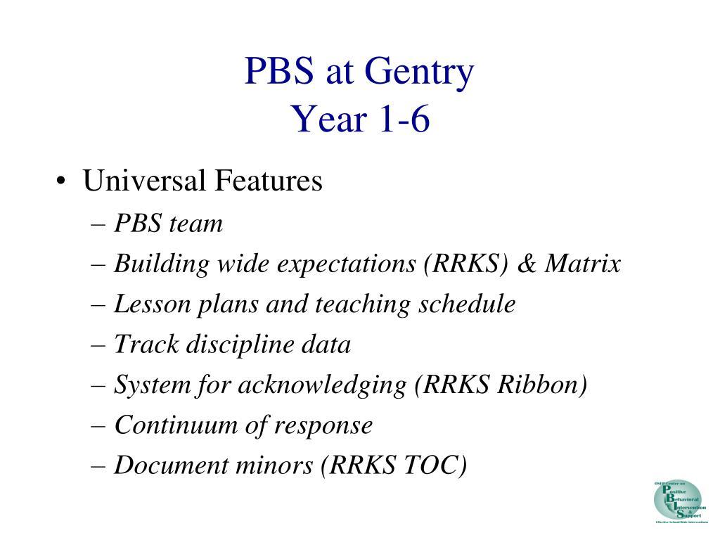 PBS at Gentry