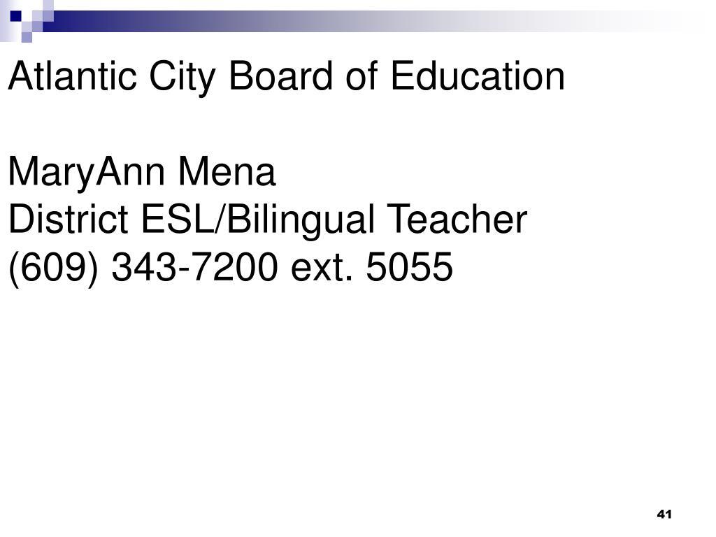 Atlantic City Board of Education