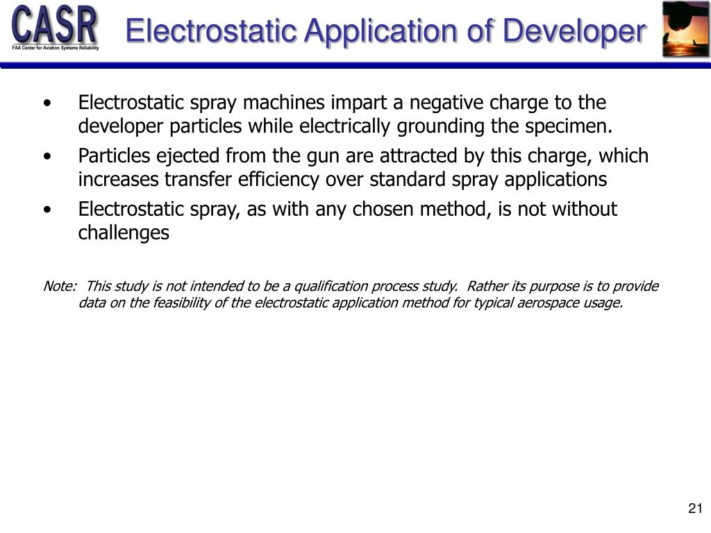Electrostatic Application of Developer
