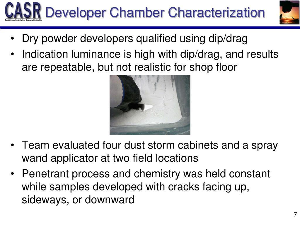 Developer Chamber Characterization