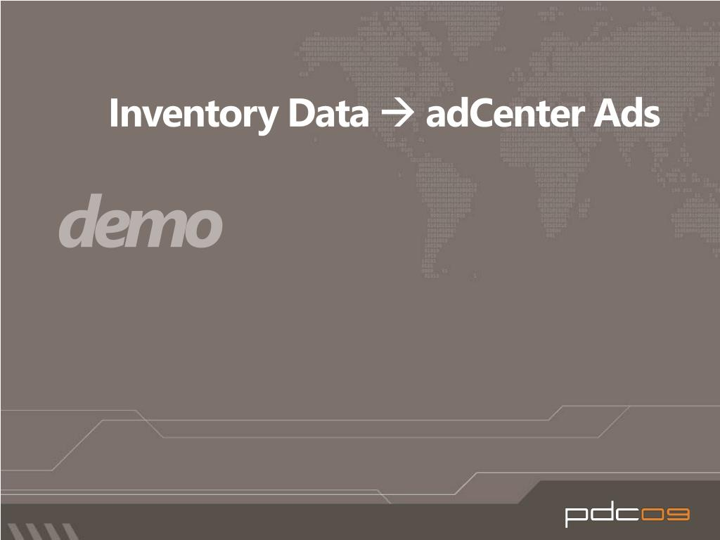 Inventory Data