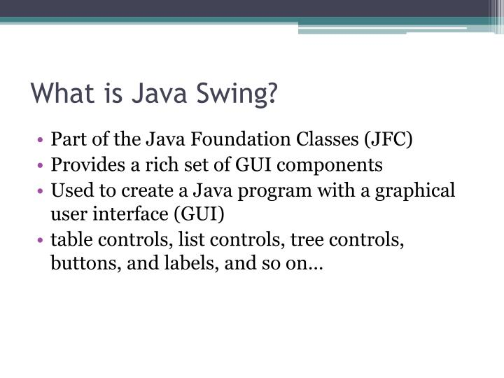 What is java swing