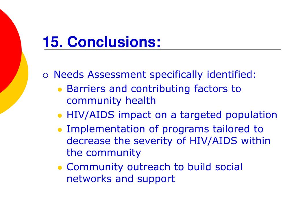 15. Conclusions: