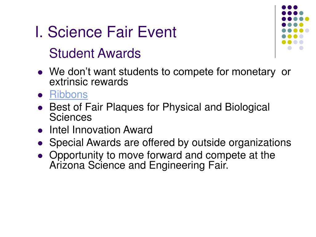 I. Science Fair Event