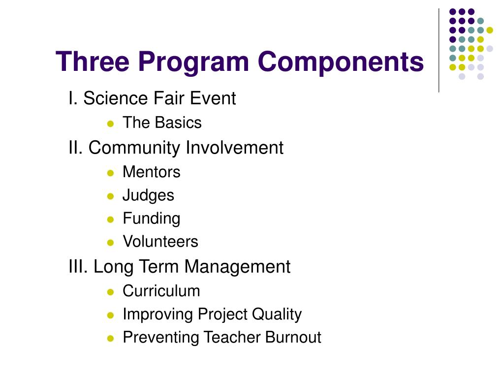 Three Program Components