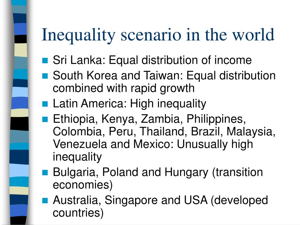 Inequality scenario in the world