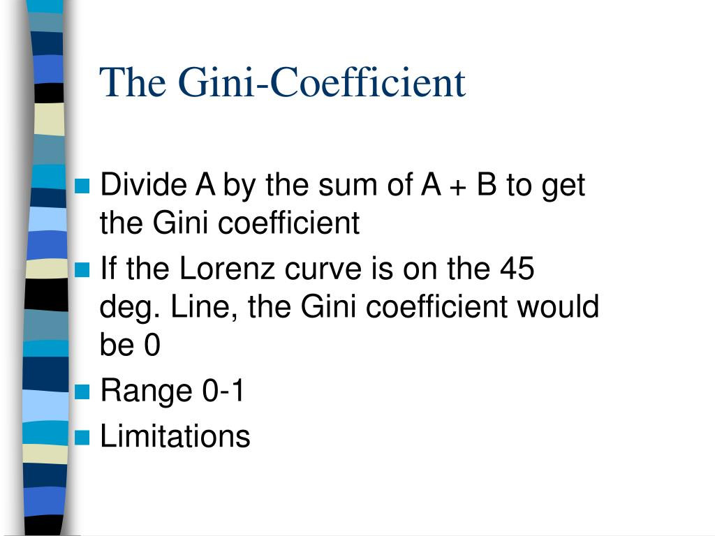 The Gini-Coefficient