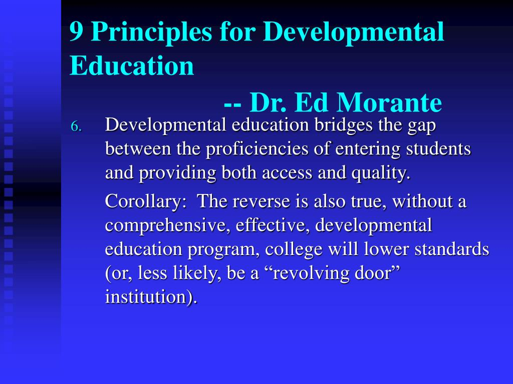 9 Principles for Developmental Education