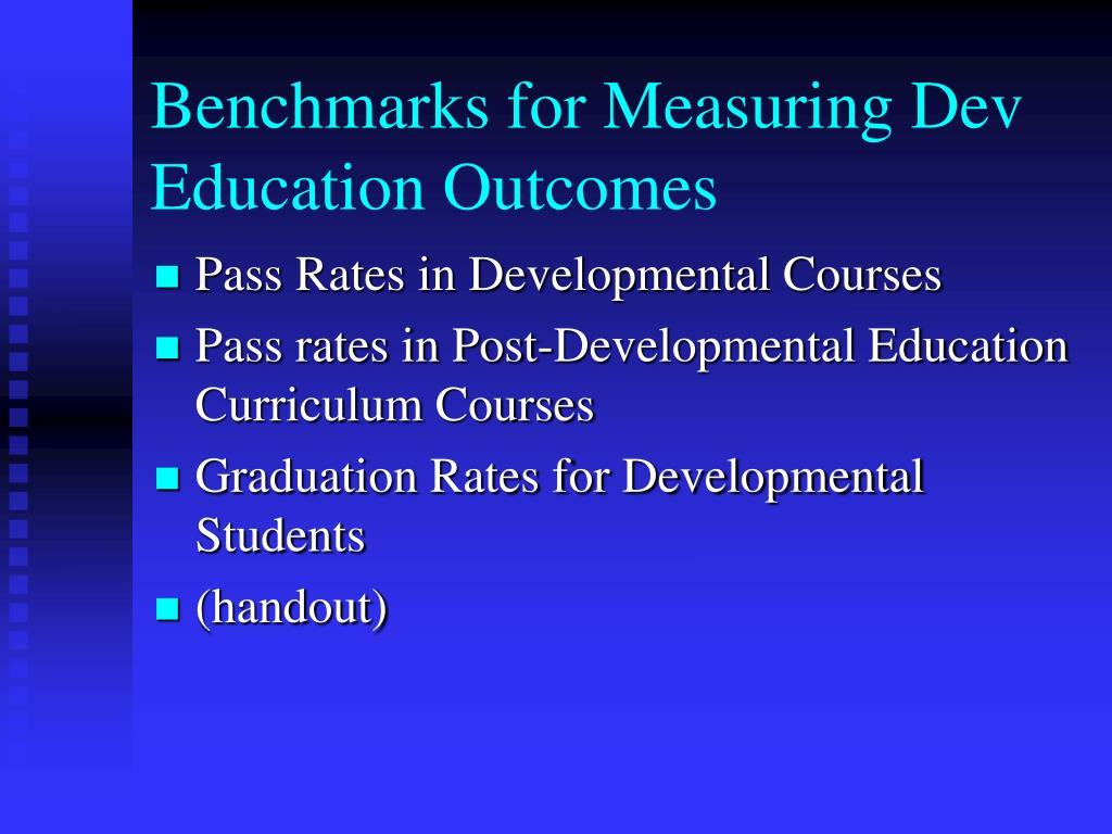 Benchmarks for Measuring Dev Education Outcomes
