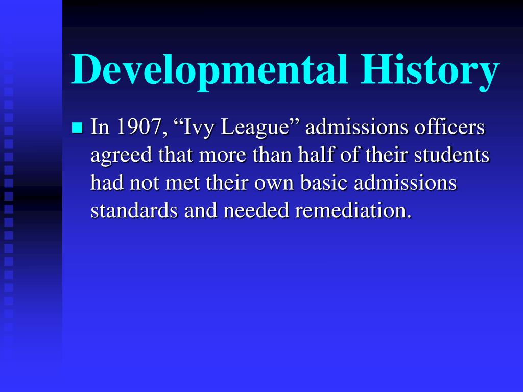 Developmental History