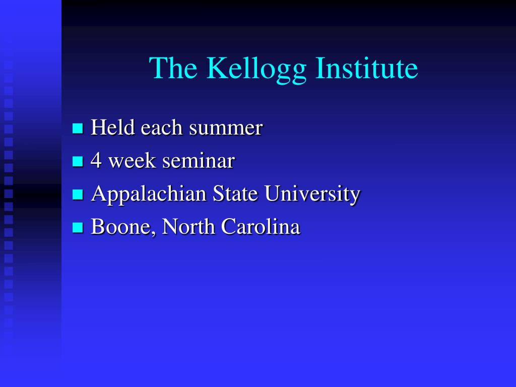 The Kellogg Institute
