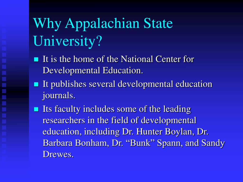 Why Appalachian State University?